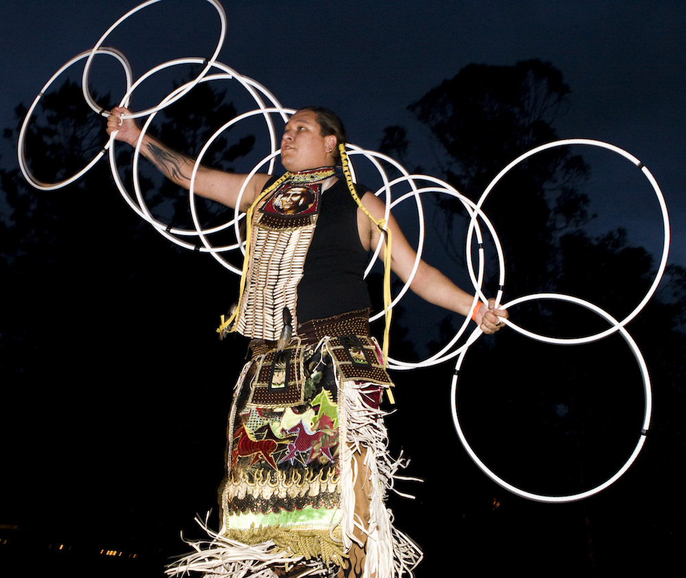 American Indian dancer, Dreaming Festival, Australia, 2008